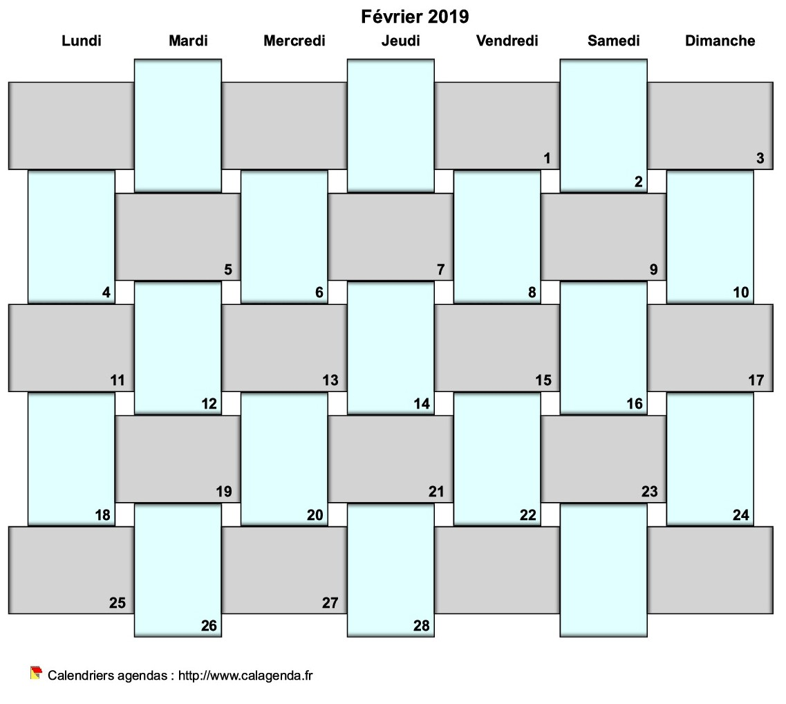 Agenda mensuel 2019 bullet journal