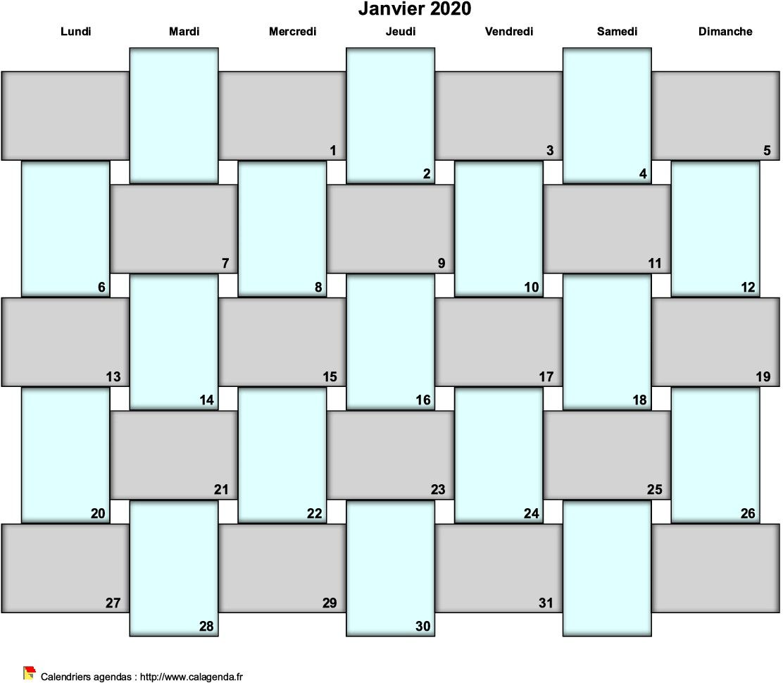 Agenda mensuel 2020 bullet journal