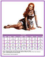 Calendrier tubes femmes du mois de février