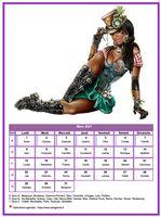 Calendrier tubes femmes du mois de mars