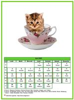 Calendrier d'avril 2018 chats
