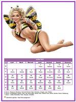 Calendrier mensuel tubes femmes