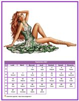 Calendrier tubes femmes du mois de septembre