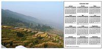 Calendrier annuel à imprimer, format paysage, avec photo à gauche