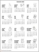 Calendrier annuel special écoles primaires