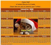 Calendrier spécial fêtes