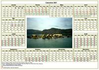Calendrier agenda annuel avec photo, format paysage