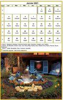 Calendrier mensuel à imprimer avec photographie au dessous