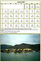 Calendrier mensuel, modèle par défaut, format tableau