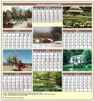 Calendrier semestriel avec une photo différente chaque mois