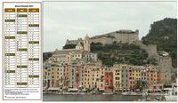 Calendrier à imprimer trimestriel, format paysage, à gauche d'une photo